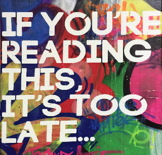 If you reading this…, 100x100cm., 2015